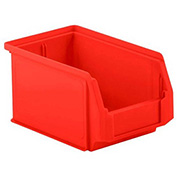 SSI Schaefer  LF090605.0RD1 - 6 x 9 x 5 LF Hopper Front Plastic Stacking Bin, Red,