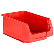 SSI Schaefer  LF140806.0RD1 - 8 x 14 x 6 LF Hopper Front Plastic Stacking Bin, Red,