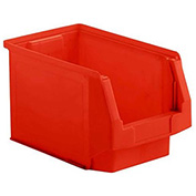 SSI Schaefer  LF140808.0RD1 - 8 x 14 x 8 LF Hopper Front Plastic Stacking Bin, Red,