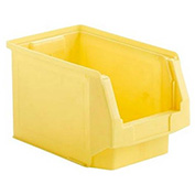 SSI Schaefer  LF140808.0YL1 - 8 x 14 x 8 LF Hopper Front Plastic Stacking Bin, Yellow,
