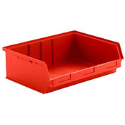 SSI Schaefer  LF141906.0RD1 - 19 x 14 x 6 LF Hopper Front Plastic Stacking Bin, Red,