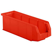 SSI Schaefer  LF200606.0RD1 - 6 x 20 x 6 LF Hopper Front Plastic Stacking Bin, Red,
