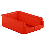 SSI Schaefer  LF201206.0RD1 - 12 x 20 x 6 LF Hopper Front Plastic Stacking Bin, Red,