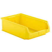 SSI Schaefer  LF201206.0YL1 - 12 x 20 x 6 LF Hopper Front Plastic Stacking Bin, Yellow,