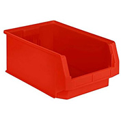 SSI Schaefer  LF201208.0RD1 - 12 x 20 x 8 LF Hopper Front Plastic Stacking Bin, Red,