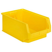 SSI Schaefer  LF201208.0YL1 - 12 x 20 x 8 LF Hopper Front  Plastic Stacking Bin, Yellow,