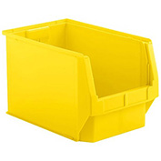 SSI Schaefer  LF201212.0YL1 - 12 x 20 x 12 LF Hopper Front Plastic Stacking Bin, Yellow,