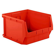 SSI Schaefer  LF201812.0RD1 - 18 x 20 x 12 LF Hopper Front Plastic Stacking Bin, Red,