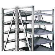 "Steel Pick Shelving, 5 Level, Double, Tilt/Tilt, 78""H x  50""W x 48""D, Starter"