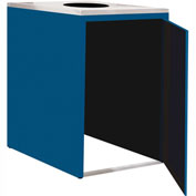 "Single Recycle Cabinet - 30""W x 27-3/4""D x 39-15/32""H (Monaco Blue)"