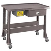 "Standard Tear-Down/Fluid Containment Bench-Portable, 48""W x 32""D-Pewter Grey"