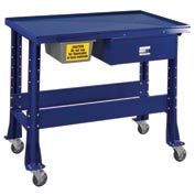 "Standard Tear-Down/Fluid Containment Bench-Portable, 48""W x 32""D-St.Louis Blue"