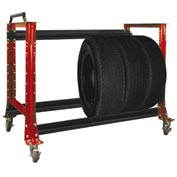 "Tire Cart 54-1/2""W x 25-5/8""D x 41""H-Carmine Red"