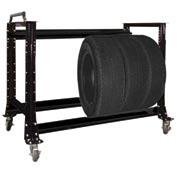 "Tire Cart 54-1/2""W x 25-5/8""D x 41""H-Gloss Black"