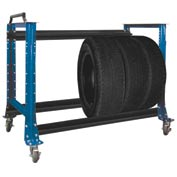 "Tire Cart 54-1/2""W x 25-5/8""D x 41""H-Monaco Blue"