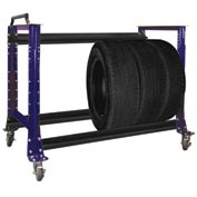 "Tire Cart 54-1/2""W x 25-5/8""D x 41""H-St.Louis Blue"