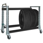 "Tire Cart 54-1/2""W x 25-5/8""D x 41""H-Sebring Grey"