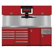 Shuretech STS-S4-8' Bench System-Carmine Red