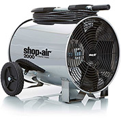 "Shop-Vac 1033100 Portable Air Circulator, 14"" Dia., 1/3 HP, 2000 CFM, 120V, 30Ft. Cord"