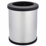 Shop-Can® 10 Gallon Stainless Steel Waste Container with Open Lid - 11342-00