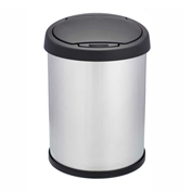 Shop-Can® 10 Gallon Stainless Steel Waste Container with Spring Lid - 11344-00
