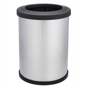 Shop-Can® 12 Gallon Stainless Steel Waste Container with Open Lid - 11357-00