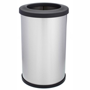 Shop-Can® 14 Gallon Stainless Steel Waste Container with Open Lid - 11372-00