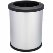 Shop-Can® 16 Gallon Stainless Steel Waste Container with Open Lid - 11387-00