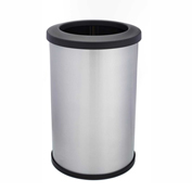 Shop-Can® 20 Gallon Stainless Steel Waste Container with Open Lid - 11402-00