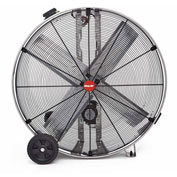"Shop-Vac Industrial Drum Fan 1181000, 36"" Dia., 1/2 HP, Belt Drive, 12,200 CFM, Stainless Steel"