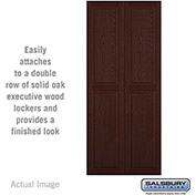 "Salsbury Double End Side Panel 11143 - for 18"" Deep Solid Oak Executive Wood Locker, Dark Oak"