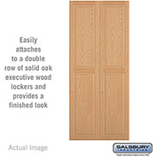 "Salsbury Double End Side Panel 11143 - for 18"" Deep Solid Oak Executive Wood Locker, Light Oak"