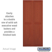 "Salsbury Double End Side Panel 11143 - for 18"" Deep Solid Oak Executive Wood Locker, Medium Oak"
