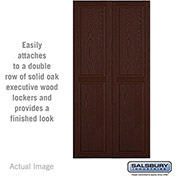 "Salsbury Double End Side Panel 11145 - for 21"" Door Deep Solid Oak Executive Wood Locker, Dark Oak"