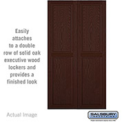 "Salsbury Double End Side Panel 11147 - for 24"" Door Deep Solid Oak Executive Wood Locker, Dark Oak"