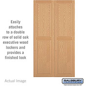 "Salsbury Double End Side Panel 11147 - for 24"" Door Deep Solid Oak Executive Wood Locker, Light Oak"