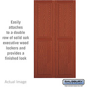 "Salsbury Double End Side Panel 11147 - for 24"" Door Deep Solid Oak Executive Wood Locker, Medium Oak"