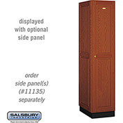 Salsbury Solid Oak Executive Wood Locker 11161 - Single Tier 1 Wide, 16x21x72, 1 Door, Medium Oak
