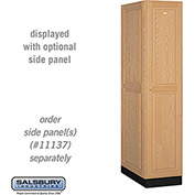 Salsbury Solid Oak Executive Wood Locker 11164 - Single Tier 1 Wide, 16x24x72, 1 Door, Light Oak