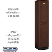 Salsbury Solid Oak Executive Wood Locker 11168 - Single Tier 1 Wide, 16x18x72, 1 Door, Dark Oak