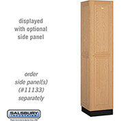 Salsbury Solid Oak Executive Wood Locker 11168 - Single Tier 1 Wide, 16x18x72, 1 Door, Light Oak