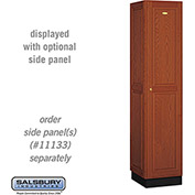 Salsbury Solid Oak Executive Wood Locker 11168 - Single Tier 1 Wide, 16x18x72, 1 Door, Medium Oak