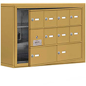 Cell Phone Locker with Access Panel 19135-10GSK - Surface Mounted, Keyed Locks, 8A & 2B Doors, Gold