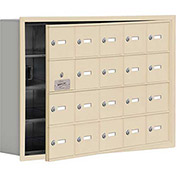 Cell Phone Locker with Access Panel 19145-20SRK - Recessed Mounted Keyed Locks 20 A Doors, Sandstone