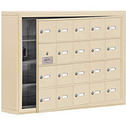 Cell Phone Locker with Access Panel 19145-20SSK - Surface Mounted Keyed Locks, 20 A Doors, Sandstone