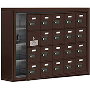 Cell Phone Locker with Access Panel 19145-20ZSC - Surface Mounted, Combo Locks, 20 A Doors, Bronze