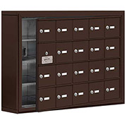 Cell Phone Locker with Access Panel 19145-20ZSK - Surface Mounted, Keyed Locks, 20 A Doors, Bronze