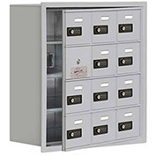 Cell Phone Locker with Access Panel 19148-12ARC - Recessed Mounted, Combo Locks 12 A Doors, Aluminum