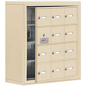 Cell Phone Locker with Access Panel 19148-12SSK - Surface Mounted Keyed Locks, 12 A Doors, Sandstone