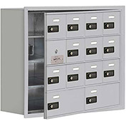 Cell Phone Locker with Access Panel 19148-14ARC - Recessed Mounted Combo Locks 12A&2B Doors Aluminum